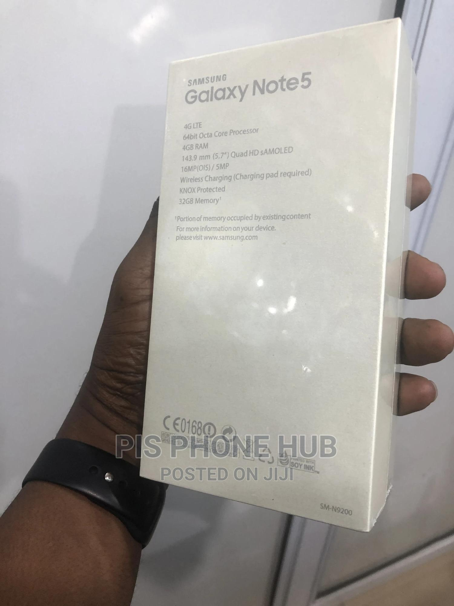 New Samsung Galaxy Note 5 32 GB Black | Mobile Phones for sale in Port-Harcourt, Rivers State, Nigeria