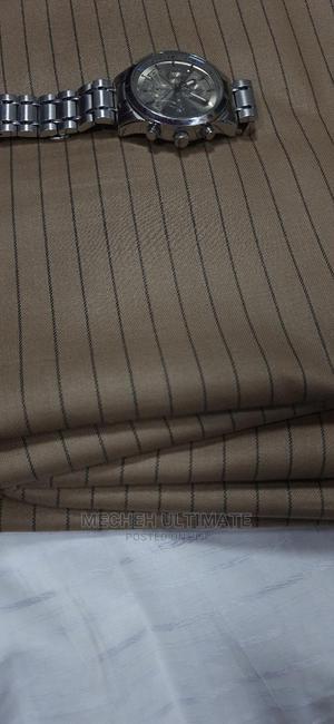1 Yard Senator Material,Catorn Brown Stripe   Clothing for sale in Lagos State, Lagos Island (Eko)