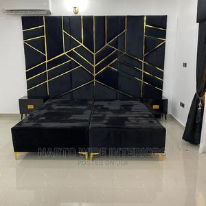6by6 Upholstery Padded Bedframe   Furniture for sale in Lagos State, Ojo