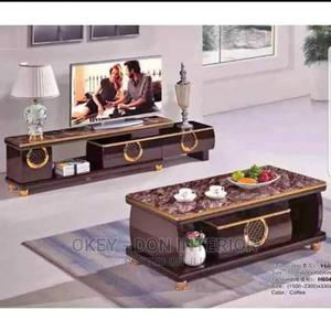 Quality Glass Top Center Table and TV Stand   Furniture for sale in Lagos State, Surulere