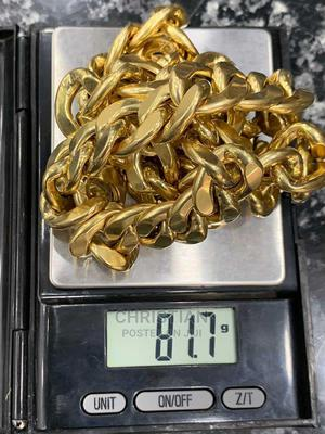 Pure Gold Necklace 81.7 Grams | Jewelry for sale in Lagos State, Surulere