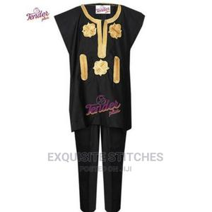 Children's Wear-Danshiki Native- Black With Gold Embroidery | Children's Clothing for sale in Lagos State, Ojodu