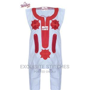 White Danshiki Native With Red Embroidery | Children's Clothing for sale in Lagos State, Ojodu