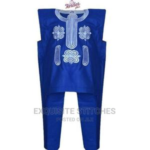 Royal Blue Danshiki Native With White Embroidery | Children's Clothing for sale in Lagos State, Ojodu