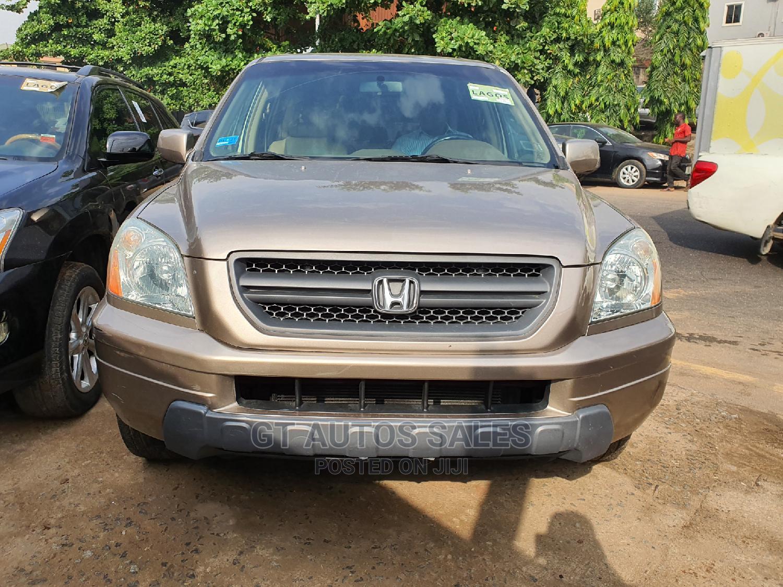 Honda Pilot 2004 EX-L 4x4 (3.5L 6cyl 5A) Gold   Cars for sale in Ikeja, Lagos State, Nigeria