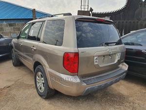 Honda Pilot 2004 EX-L 4x4 (3.5L 6cyl 5A) Gold | Cars for sale in Lagos State, Ikeja