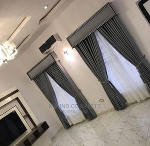 Plain Gray 3D Curtain | Home Accessories for sale in Lagos State, Surulere