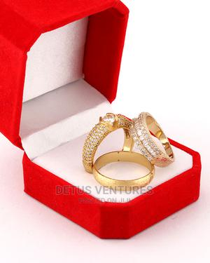 Veve Gold Wedding Ring Sets 18 Karat Gold Plated   Wedding Wear & Accessories for sale in Lagos State, Surulere