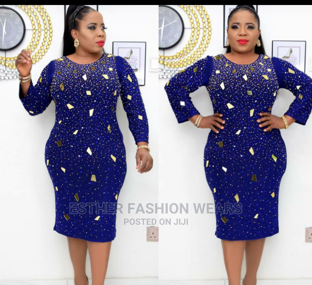 Quality Turkey Dinner Short Gown | Clothing for sale in Ikeja, Lagos State, Nigeria