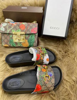 Beautiful High Quality Ladies Turkey Handbag and Slippers | Bags for sale in Lagos State, Lagos Island (Eko)