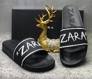 Quality Designer Leather Slippers Zara Available for U | Shoes for sale in Lagos State, Lagos Island (Eko)