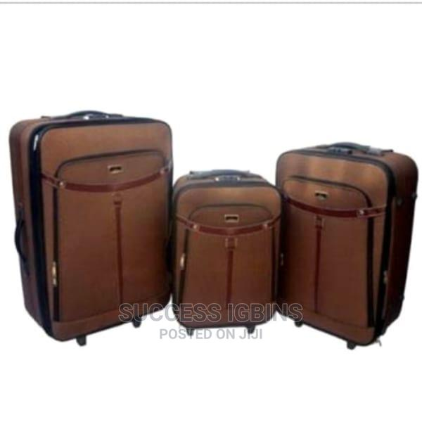 Swiss Polo Travel Luggage Trolley Box - Set of 3 - Brown
