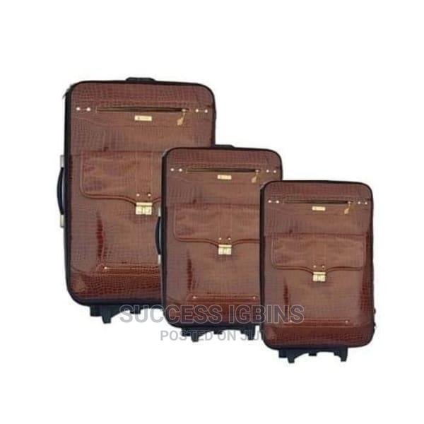 Swiss Polo Travel Luggage Trolley Box - Set of 3 - Brown   Bags for sale in Agege, Lagos State, Nigeria