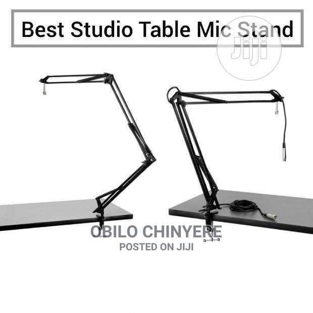 Adjustable Studio Table Microphone Stand | Accessories & Supplies for Electronics for sale in Mushin, Lagos State, Nigeria