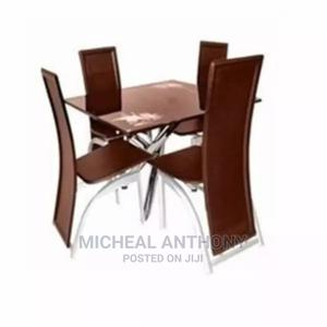 Square Dining by 4 With Four Leather Chair   Furniture for sale in Abuja (FCT) State, Kubwa