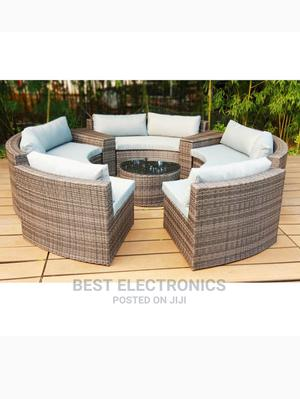 Outdoor Rattan Garden Patio KD Round Sofa Bed | Furniture for sale in Abuja (FCT) State, Wuse 2