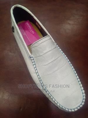White Italian Leather Loafers for Men   Shoes for sale in Lagos State, Surulere