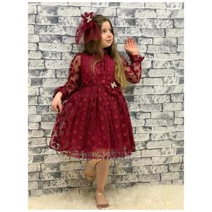 Turkey Girls Unique Gown-Wine | Children's Clothing for sale in Lagos State, Isolo