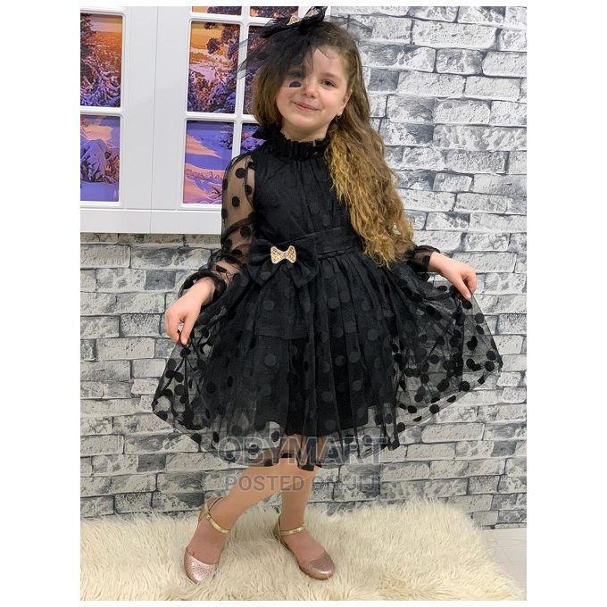 Black Turkey Girls Unique Gown