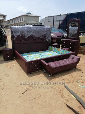 6by7 Bedframe Dressing Mirror and Side Drawer and Footrest | Furniture for sale in Lagos State, Ojo