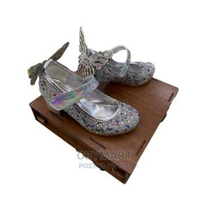 Silver Mid-Heel Turkey Butterfly Dress Shoe   Children's Shoes for sale in Lagos State, Isolo