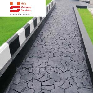 Stamped Concrete Floor, Polishing Floor, Design Compound   Building Materials for sale in Lagos State, Surulere