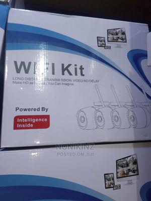 Ip 4ch Wirleess Wifi Camera Kit | Security & Surveillance for sale in Lagos State, Ojo