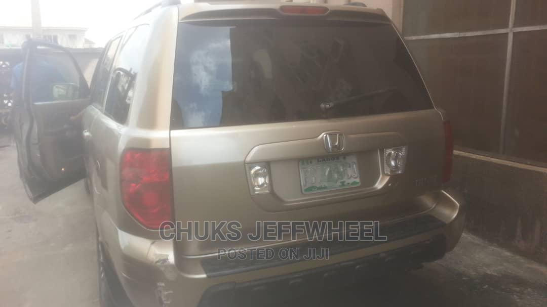 Honda Pilot 2004 EX 4x4 (3.5L 6cyl 5A) Gold | Cars for sale in Isolo, Lagos State, Nigeria