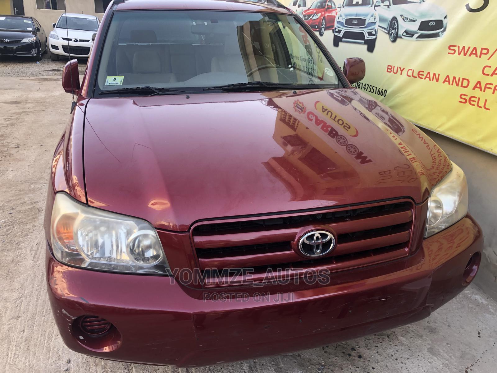 Archive: Toyota Highlander 2006 Red