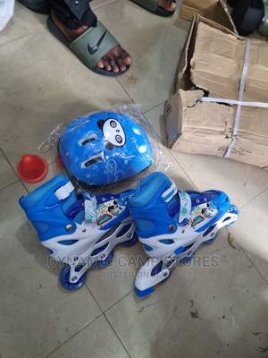 Children'S Skateshoe With Helmet, Guard and Training Cones   Sports Equipment for sale in Lagos State, Surulere