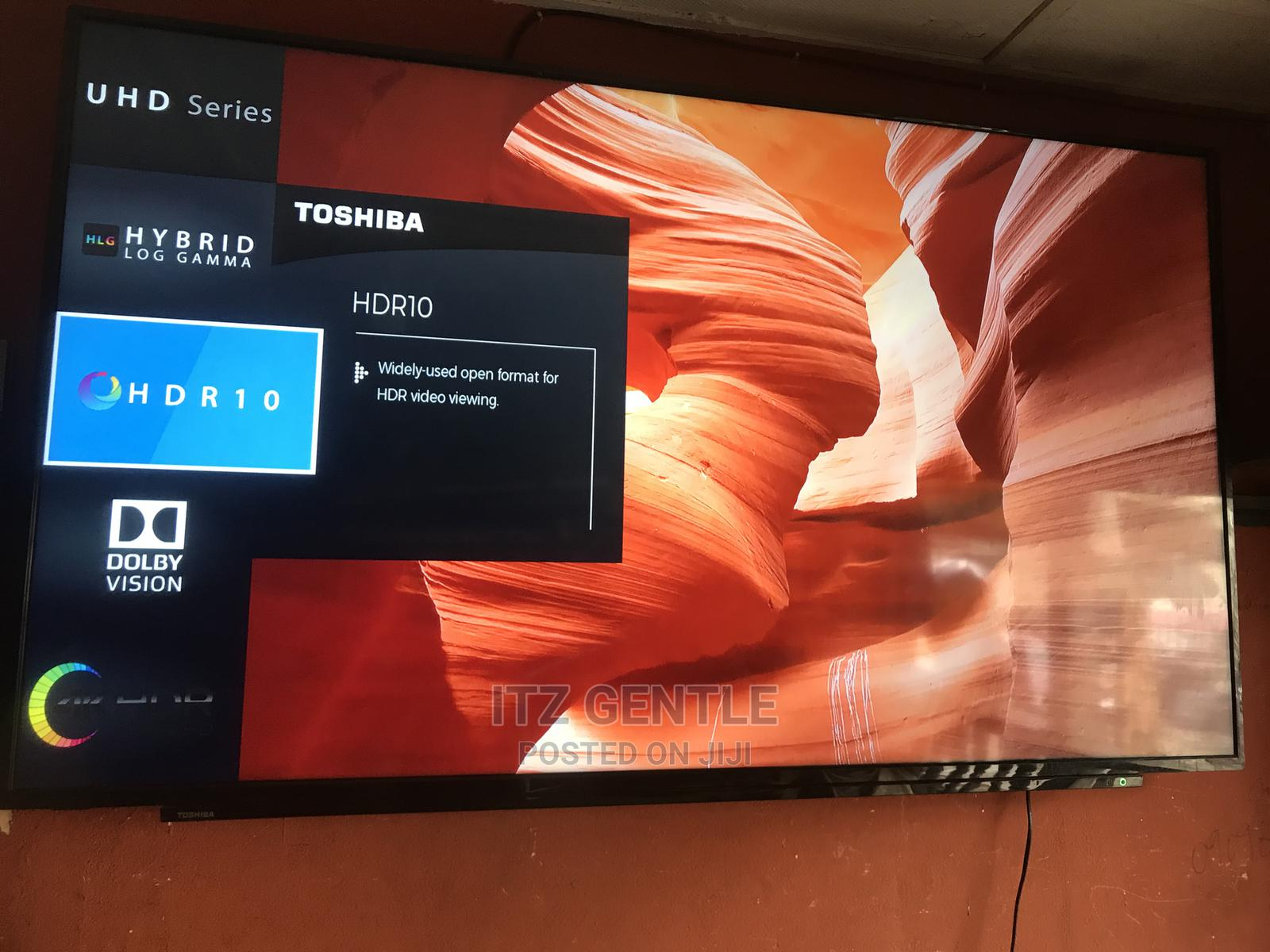 """65"""" Toshiba LED 4K Smart Tv With Mirrocast,Netflix,Youtube 