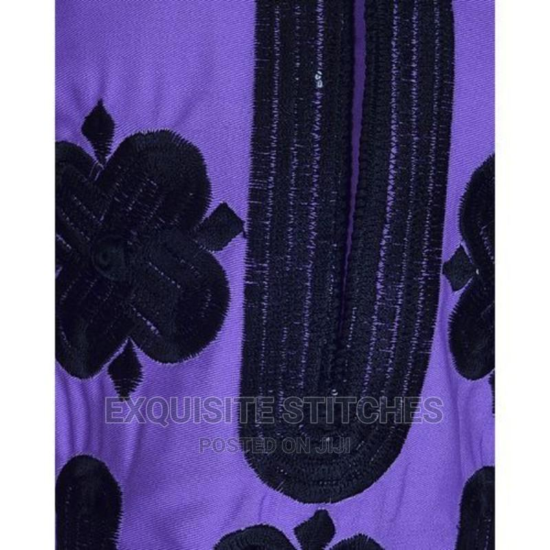 Purple Danshiki Native With Black Embroidery   Children's Clothing for sale in Ojodu, Lagos State, Nigeria