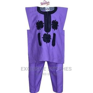 Purple Danshiki Native With Black Embroidery | Children's Clothing for sale in Lagos State, Ojodu