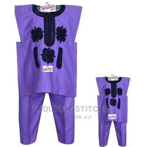 Mum and I Danshiki Native- Purple With Black Embroidery -Mum | Children's Clothing for sale in Lagos State, Ojodu