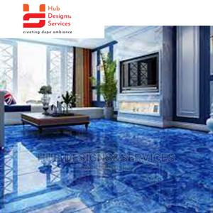 Metallic Epoxy 3D Coating Floor Surface Designs | Building Materials for sale in Lagos State, Surulere