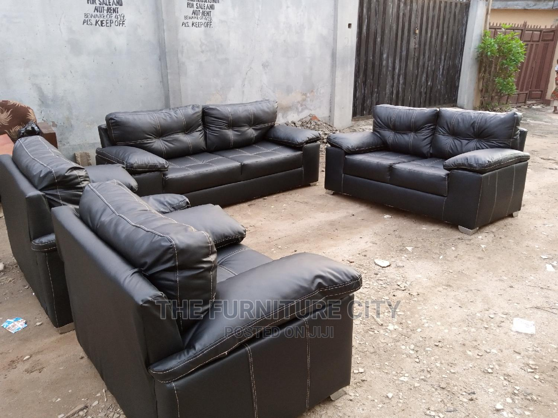 Full 7 Seater Leather Living Room Sofa