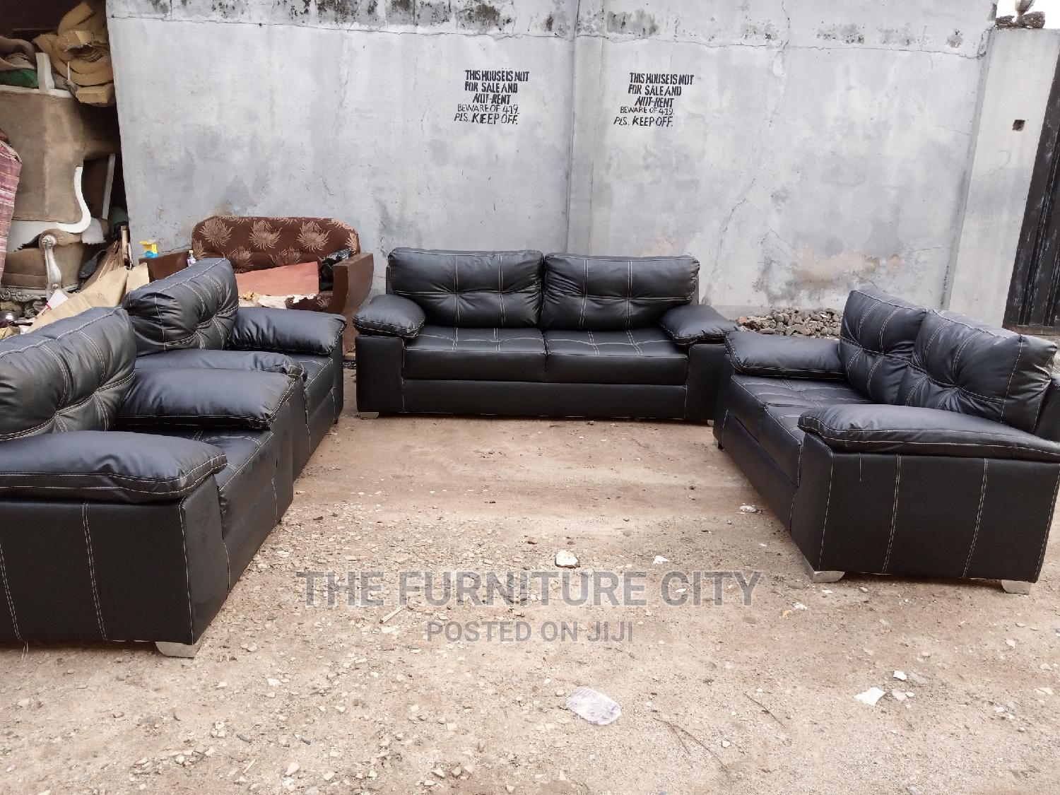 Full 7 Seater Leather Living Room Sofa   Furniture for sale in Ikeja, Lagos State, Nigeria