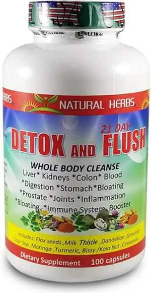 Natural Herbs 21 Day Detox and Flush Capsules   Vitamins & Supplements for sale in Lagos State, Ikoyi