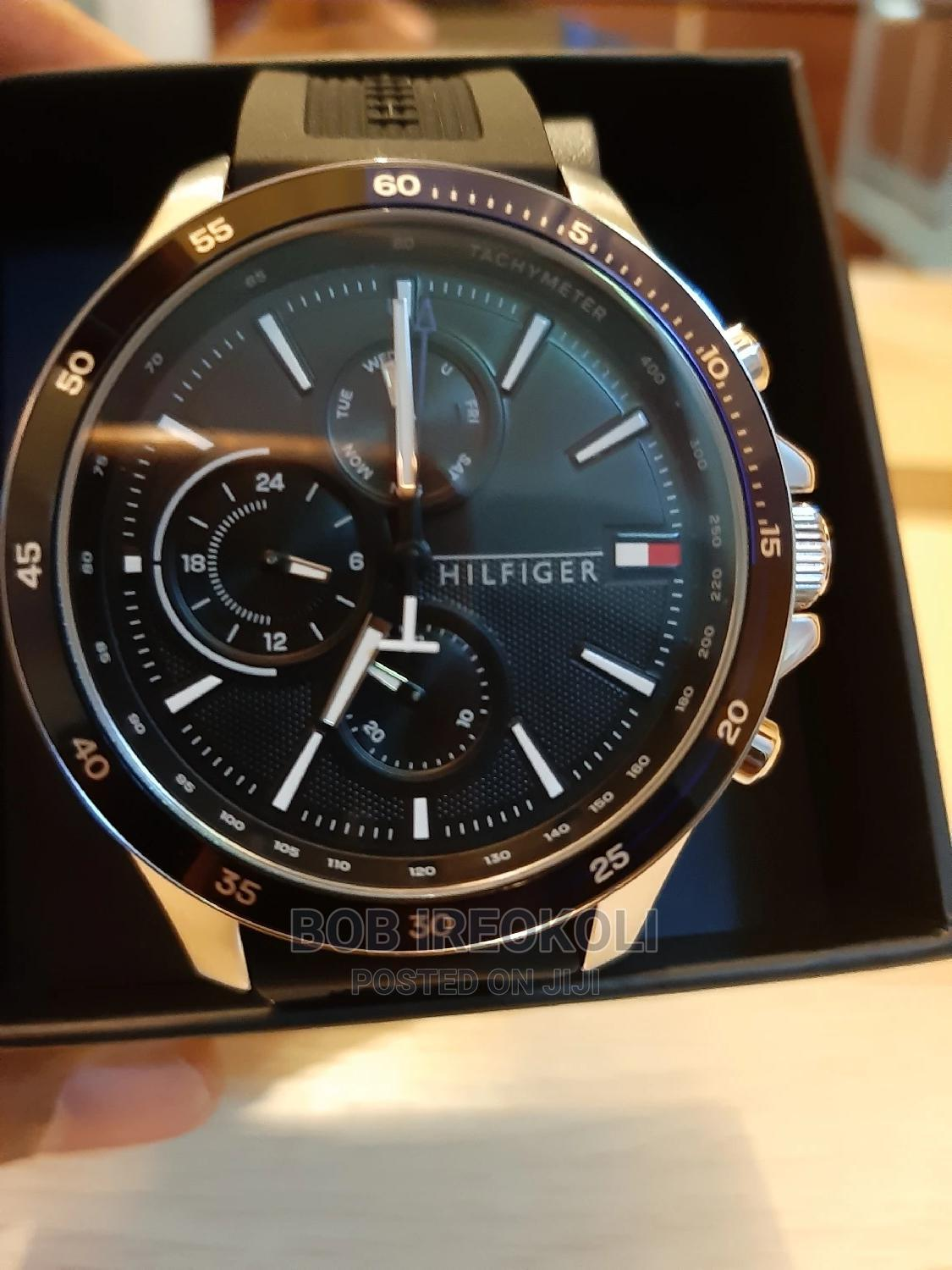 Tommy Hilfiger Stainless Steel Watch With Rubber Strap   Watches for sale in Central Business Dis, Abuja (FCT) State, Nigeria