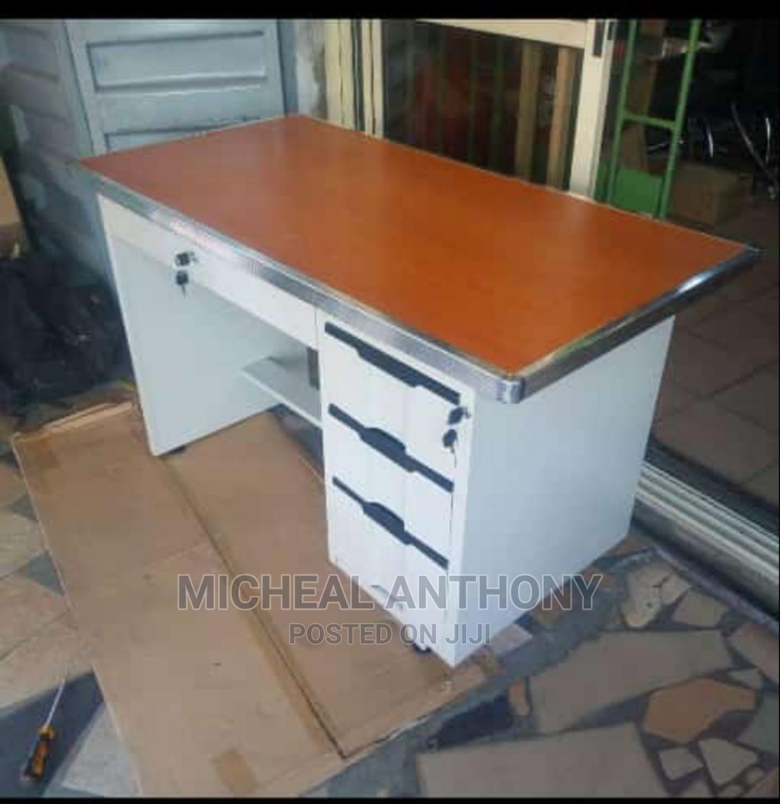 Office Table With Metal Leg Three Drawer Wardrobe