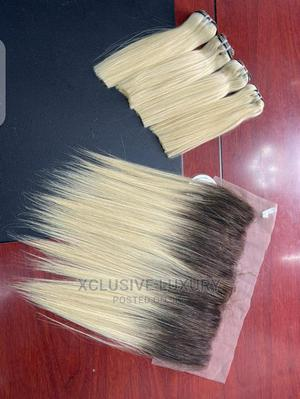 Vietnam Milk Color Bone Straight With Fronter | Hair Beauty for sale in Lagos State, Lagos Island (Eko)