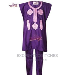 Kids Children Clothing- Girl's Purple Danshiki Native With B | Children's Clothing for sale in Lagos State, Ojodu