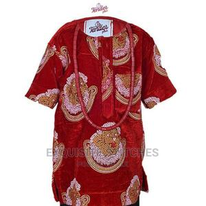 Boy's Isi Agu Shirt Native - Red | Children's Clothing for sale in Lagos State, Ojodu