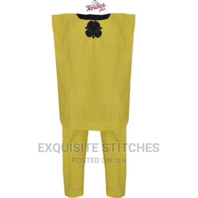 Yellow Danshiki Native With Black Embroidery | Children's Clothing for sale in Ojodu, Lagos State, Nigeria