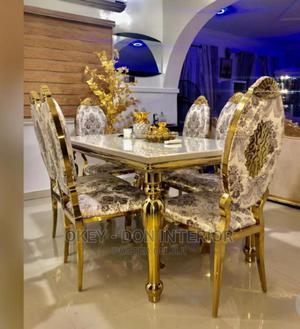 Quality Marble Dining Table With 6 Chairs | Furniture for sale in Lagos State, Victoria Island