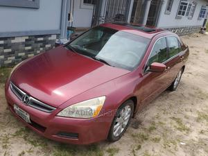 Honda Accord 2007 Coupe EX-L V-6 Automatic Red | Cars for sale in Delta State, Uvwie