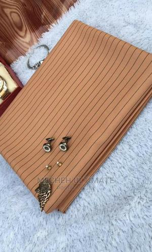 1 Yard Senator Material,Peach Stripe   Clothing for sale in Lagos State, Lagos Island (Eko)