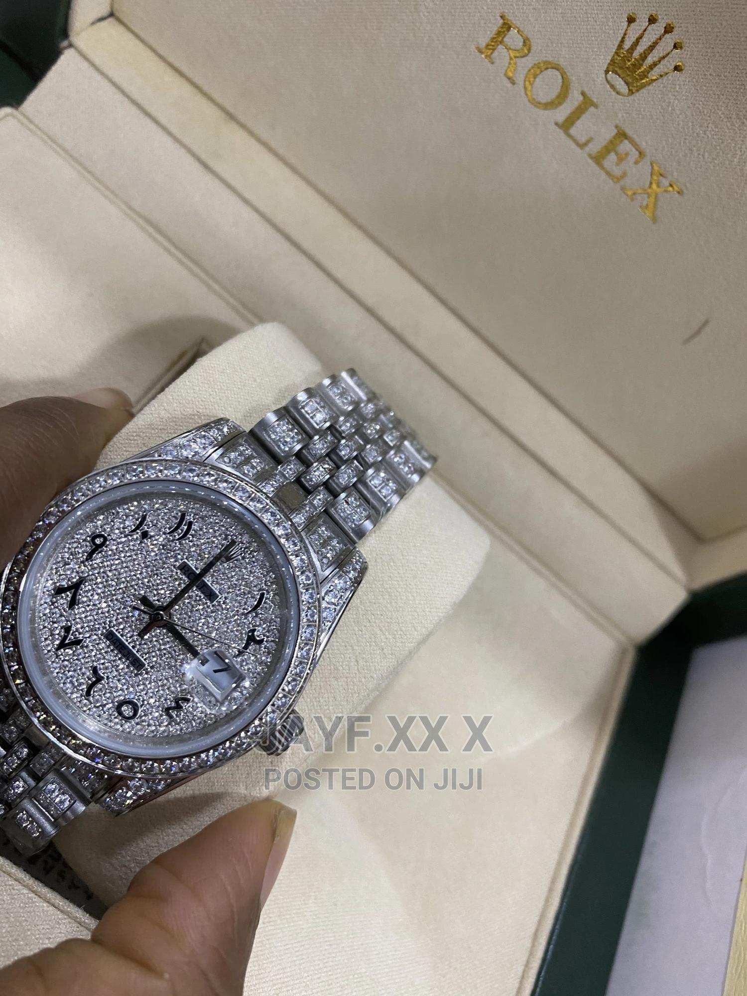 Rolex Iced Out Arabic Dial Luxury (Giveaway Price)   Watches for sale in Alimosho, Lagos State, Nigeria