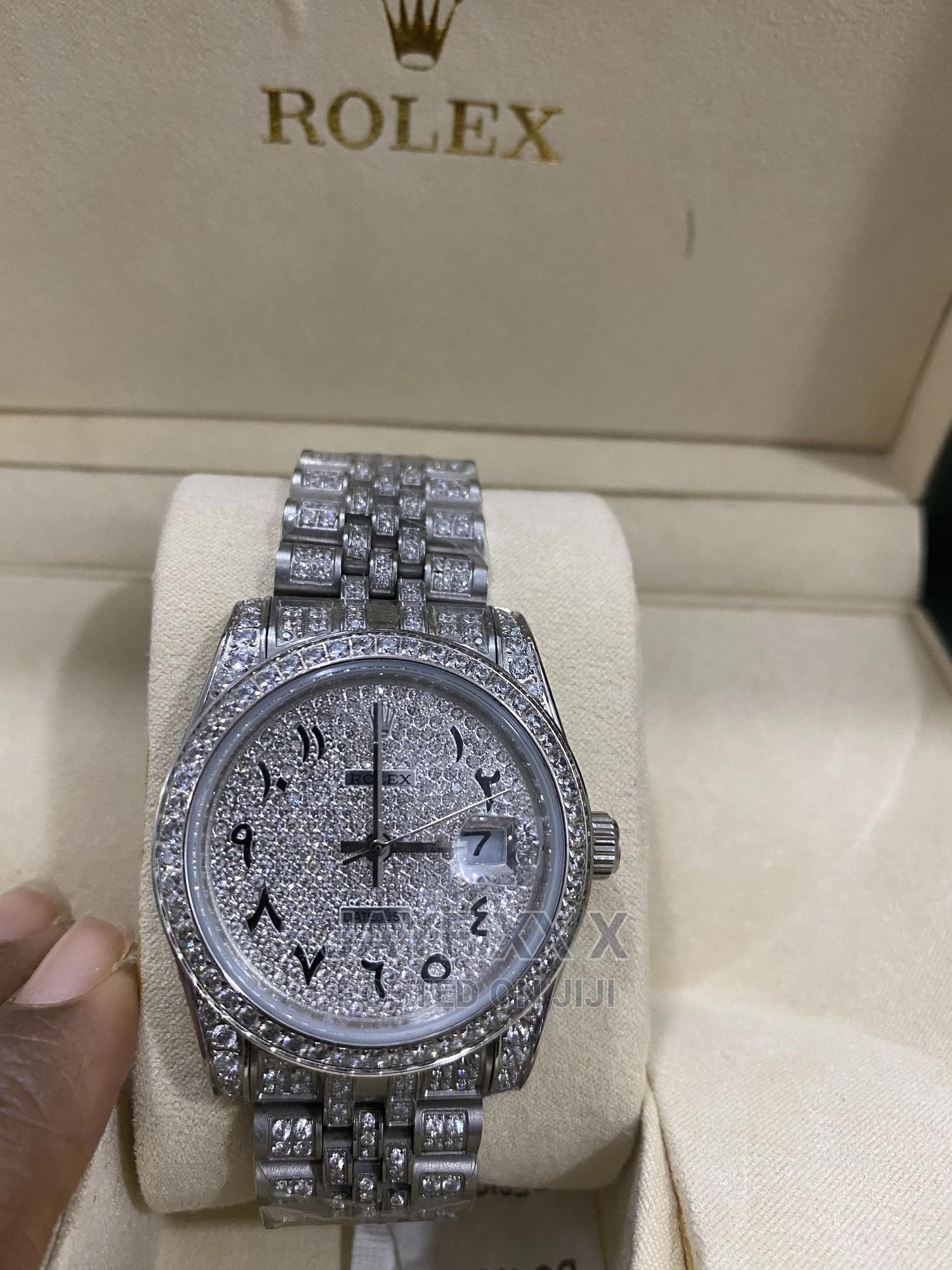 Rolex Iced Out Arabic Dial Luxury (Giveaway Price)