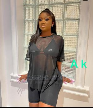 3pcs Biker Shorts Inner and Transparent Top   Clothing for sale in Lagos State, Lekki